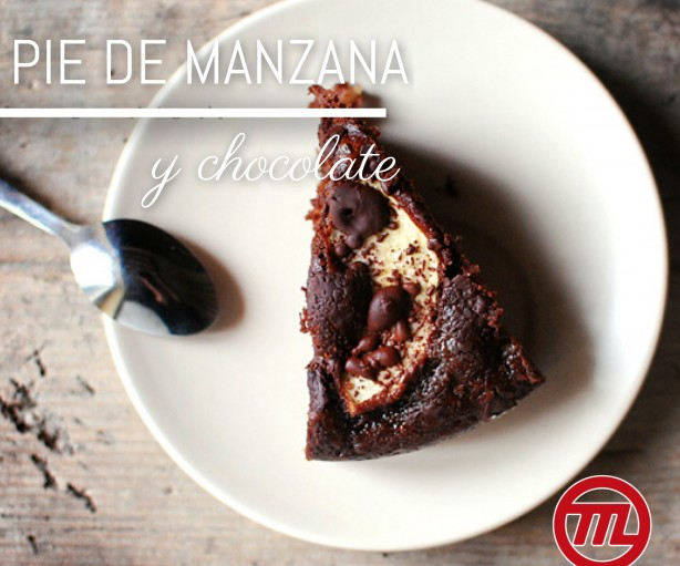Pie de manzana y chocolate